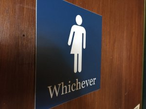 Bathroom debate over transgender bathroom access.